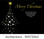 elegant black wish you a merry... | Shutterstock . vector #90573562
