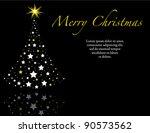 elegant black wish you a merry... | Shutterstock . vector #90573562