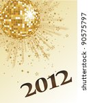 new years eve 2012   vector | Shutterstock .eps vector #90575797