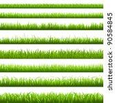 green grass borderi  vector... | Shutterstock .eps vector #90584845
