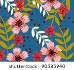 flower   Shutterstock .eps vector #90585940
