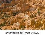 Hoodoos in Bryce Canyon National Park. Utah, USA - stock photo
