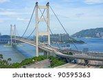 tsing ma bridge  landmark... | Shutterstock . vector #90595363