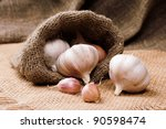 garlic in bag | Shutterstock . vector #90598474