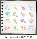 sketchbook series   working ... | Shutterstock .eps vector #90613912