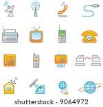 media and communication icon...