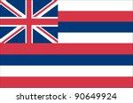 hawaii state flag | Shutterstock .eps vector #90649924