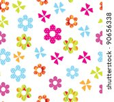 cute floral seamless background | Shutterstock .eps vector #90656338