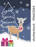 new year's greeting card with... | Shutterstock .eps vector #90663364