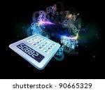 interplay of digital calculator ... | Shutterstock . vector #90665329