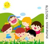kids | Shutterstock .eps vector #90672778