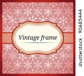 vintage lace frame with... | Shutterstock .eps vector #90685444