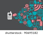vector of template for icons... | Shutterstock .eps vector #90695182