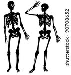 Two Silhouettes Of A Skeleton...