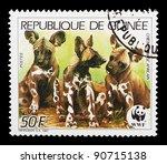 guinea   circa 1987  a stamp... | Shutterstock . vector #90715138