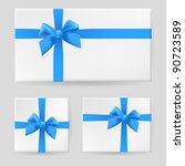 raster version. blue gift bow.... | Shutterstock . vector #90723589