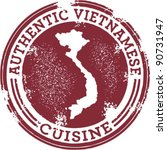 classic authentic vietnamese... | Shutterstock .eps vector #90731947