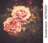 vintage flowers | Shutterstock . vector #90750203