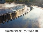 Close up of settler in water treatment plant - stock photo