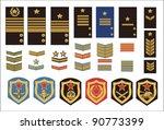 military ranks | Shutterstock .eps vector #90773399