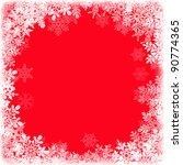 christmas snowflake frame.... | Shutterstock . vector #90774365