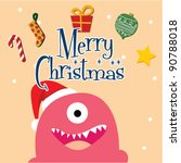 christmas monster 6 | Shutterstock .eps vector #90788018