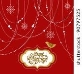 abstract christmas background ... | Shutterstock .eps vector #90797525