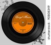 vinyl record   Shutterstock .eps vector #90808349