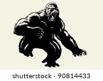 wild gorilla | Shutterstock . vector #90814433