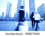 shanghai  of the lujiazui... | Shutterstock . vector #90827444