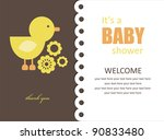 Cute Baby Shower Design. Vecto...