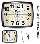 vector retro clock.  change the ...