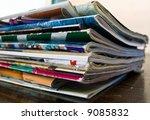 magazines on table | Shutterstock . vector #9085832