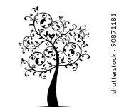 Beautiful Art Tree Isolated On...