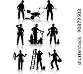 construction workers vector... | Shutterstock .eps vector #90879503