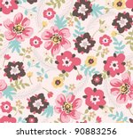 seamless spring floral pattern... | Shutterstock .eps vector #90883256