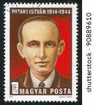 hungary   circa 1974  stamp...   Shutterstock . vector #90889610