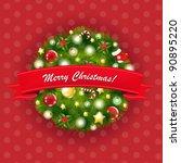 xmas vintage composition | Shutterstock . vector #90895220