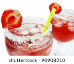 alcoholic red fruit punch... | Shutterstock . vector #90908210