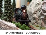 Black Model Locomotive On Trac...