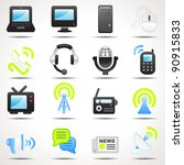 set of communication icons set | Shutterstock .eps vector #90915833