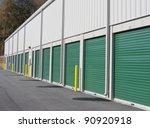 row of outdoor green door self... | Shutterstock . vector #90920918