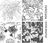 set of seamless pattern with... | Shutterstock .eps vector #90923642
