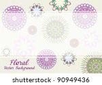 floral vector background | Shutterstock .eps vector #90949436