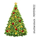 christmas tree. vector | Shutterstock .eps vector #90959822