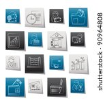 bank and finance icons   vector ... | Shutterstock .eps vector #90964808