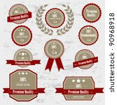 premium quality labels | Shutterstock .eps vector #90968918