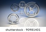 gear machinery and titanium... | Shutterstock . vector #90981401