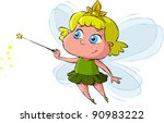 little fairy on a white... | Shutterstock .eps vector #90983222