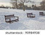 Winter  in London. Golders Green Park - stock photo